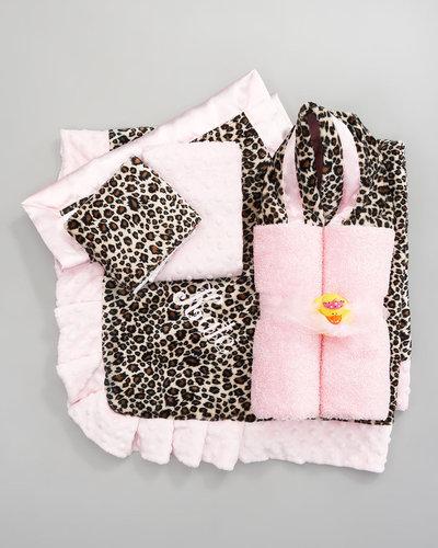Swankie Blankie Cheetah Burp Cloth Set, Plain
