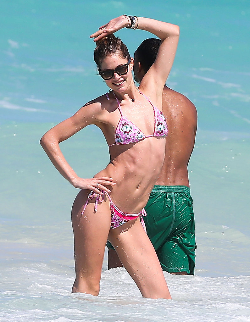 Doutzen Dons a Bikini For a Playful PDA Session With Sunnery