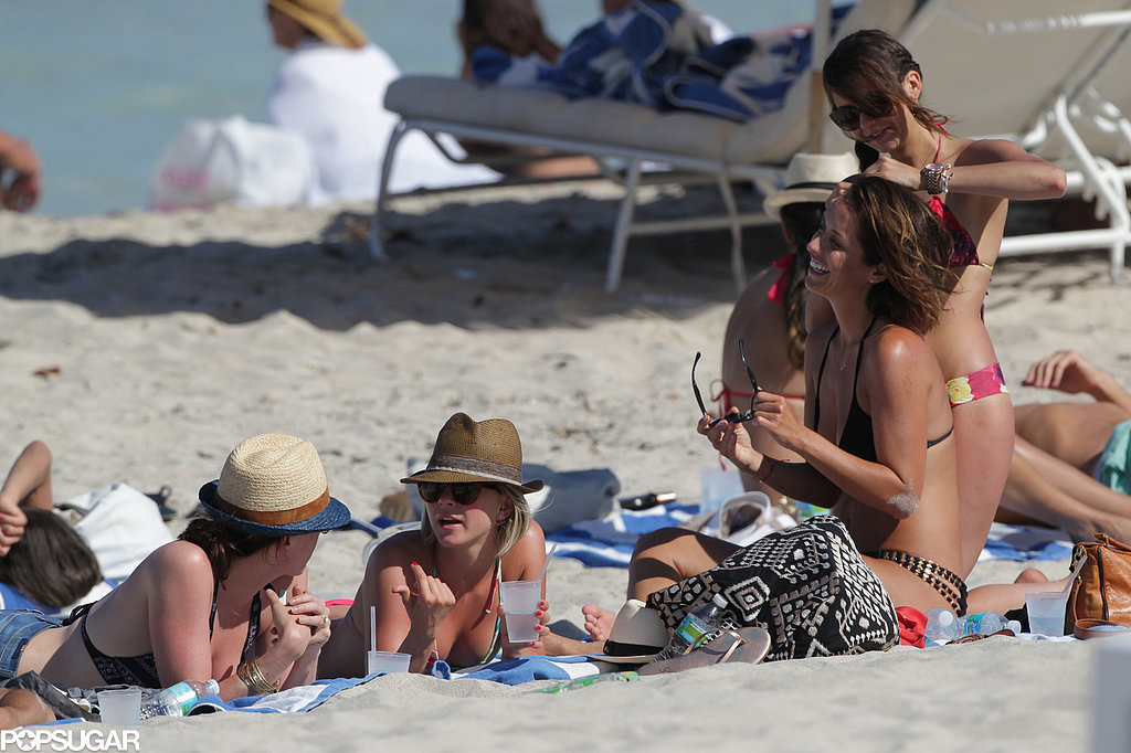 Julianne Hough and Nina Dobrev Break Out Their Bikinis For a Miami Girls' Getaway