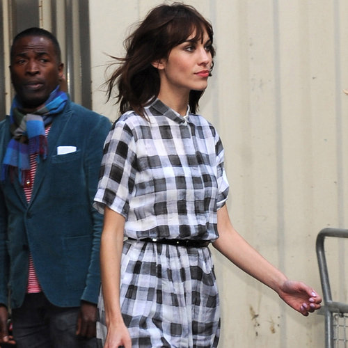 Alexa Chung in Plaid Dress | Pictures