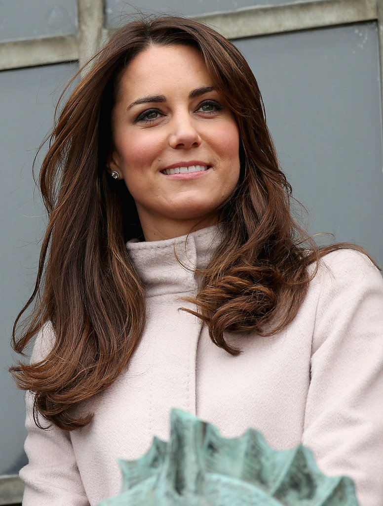 Kate's blowout had some serious movement during the couple's trip to Cambridge in 2012.