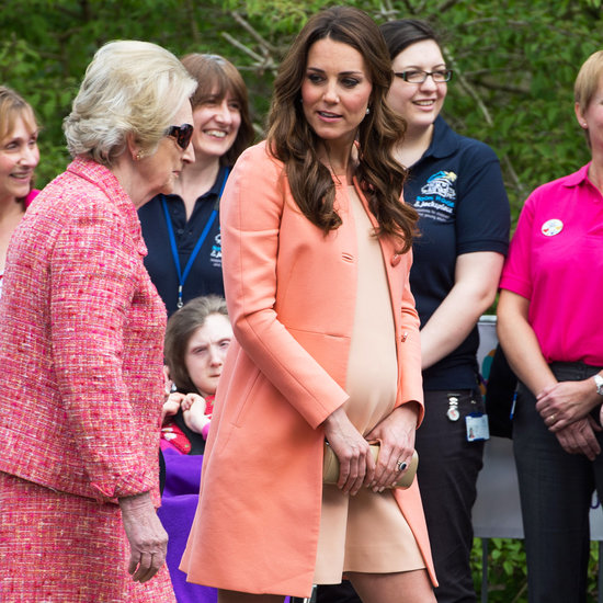 Kate Middleton Shows Off Her Baby Bump in a Peachy Combo