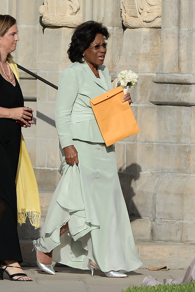 Michael Jordan's mom, Deloris, wore a green outfit.