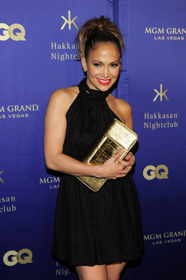 Jennifer Lopez rocked a little black dress to Hakkasan's nightclub opening at the MGM Grand.