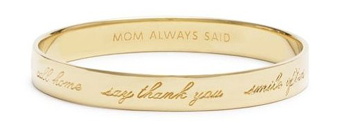 Kate Spade NY Mom Always Said Idiom Bangle