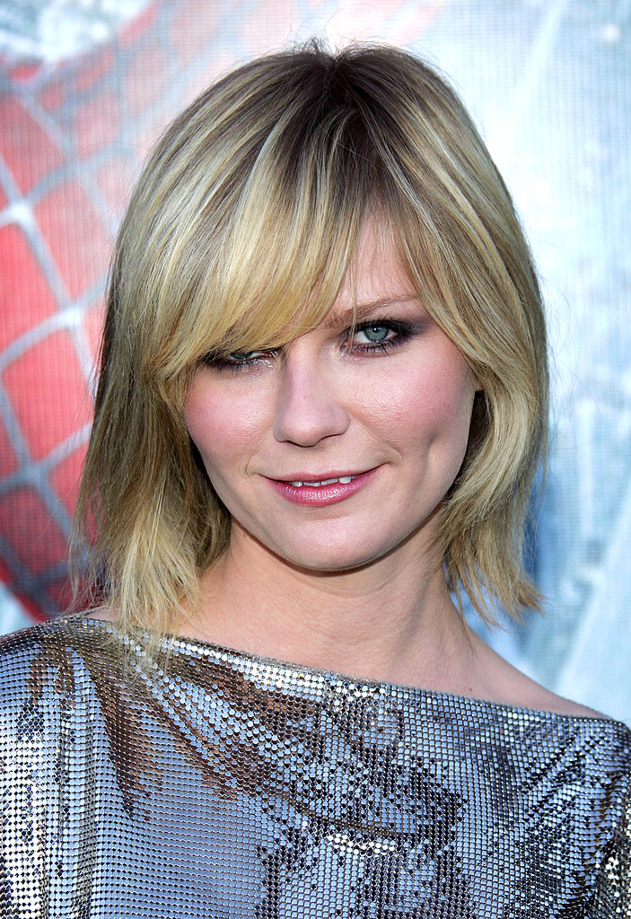 Smoky eyes and sideswept bangs made for a sexy visage at the 2007 premiere of Spider-Man 3.