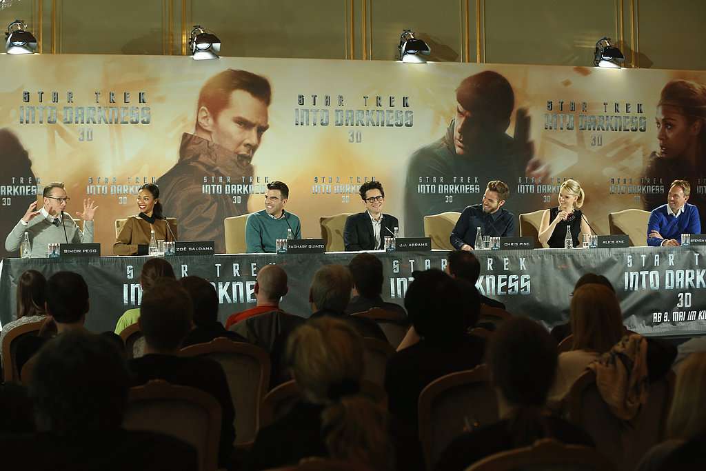 The Star Trek Into Darkness cast spoke at a press conference in Berlin on Monday.