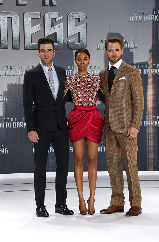 Zachary Quinto, Zoe Saldana, and Chris Pine got together before heading