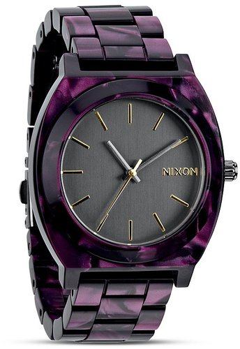 Nixon The Time Teller Acetate Watch, 39mm