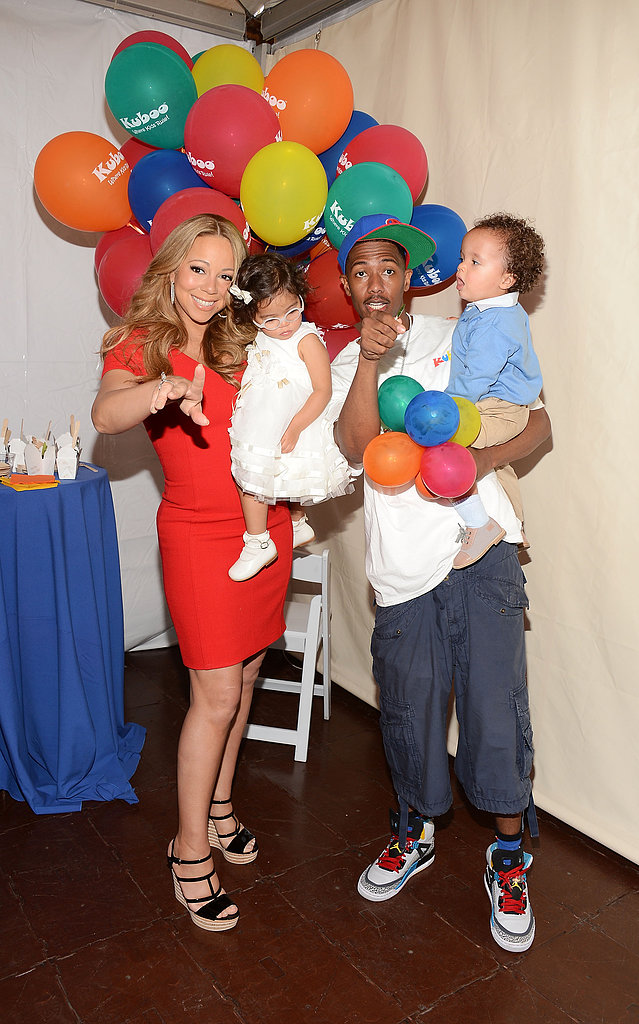 Nick Cannon and Mariah Carey hosted a family day with their twins, Monroe and Moroccan Cannon, in LA in October 2012.