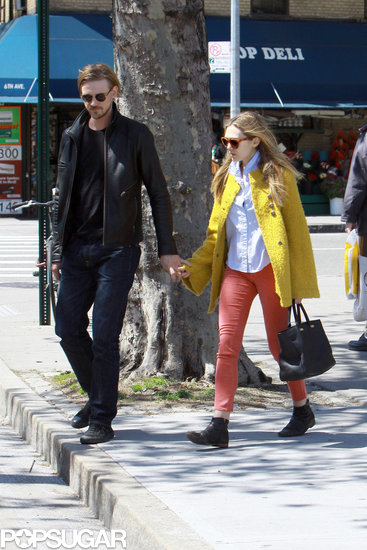 Elizabeth Olsen and Boyd Holbrook held hands in NYC.