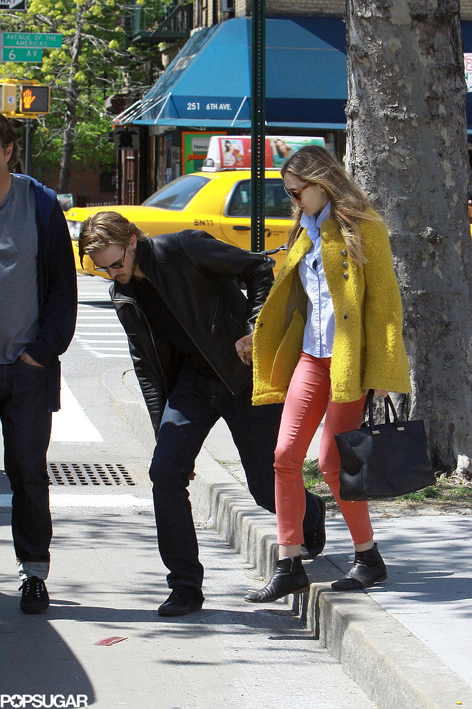Boyd Holbrook held onto Elizabeth Olsen in NYC.