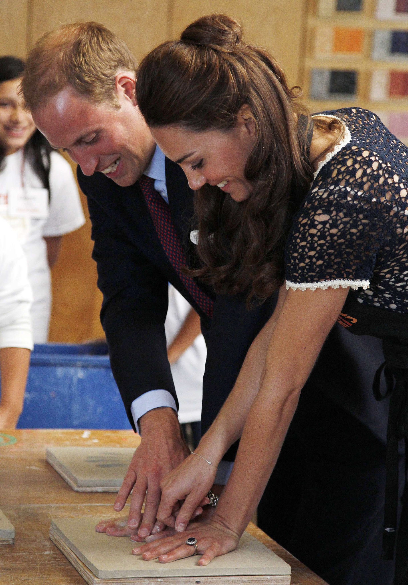 Will and Kate left their handprints at LA's Inner City Arts in 2011.