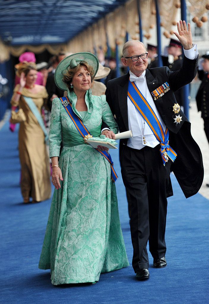 Princess Margriet of the Netherlands and Pieter van Vollenhoven left the ceremony together.
