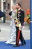 Crown Prince Haakon and Crown Princess Mette-Marit of Norway made an appearance.