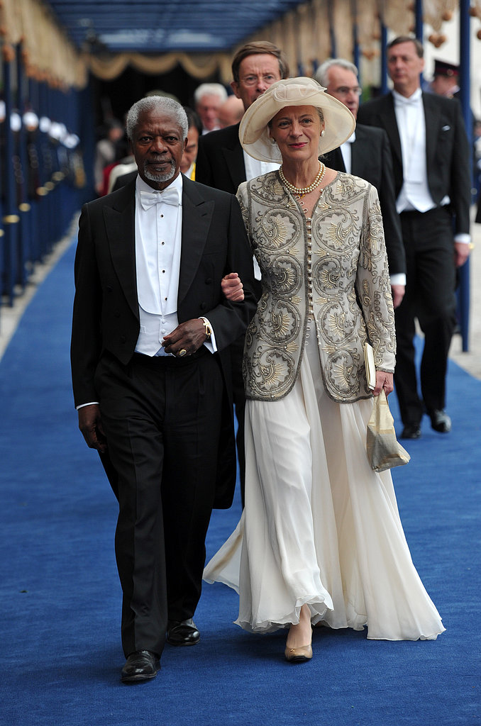 Former United Nations Secretary-General Kofi Annan and his wife, Nane, left the ceremony.