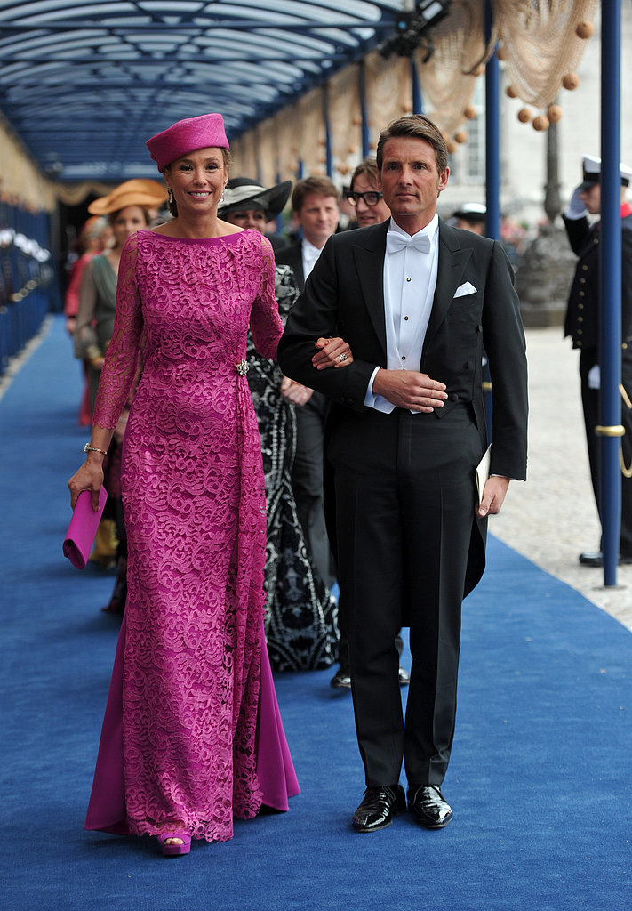 Prince Maurits of the Netherlands and Marie-Helene Angela van den Broek left the inauguration ceremony.