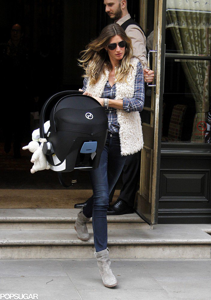 Gisele Bündchen and Vivian Brady left their hotel on Tuesday.