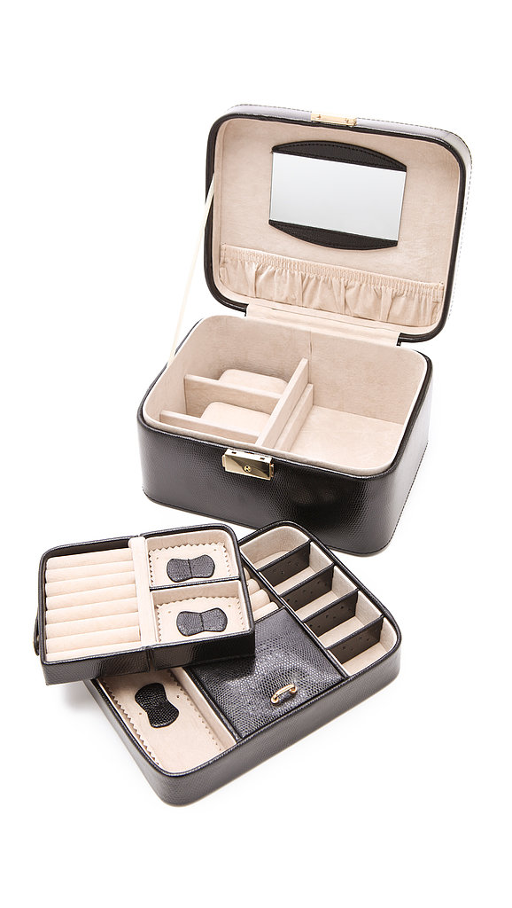 Help Mom tote her baubles while traveling in this sleek Shopbop Jewelry Travel Box ($94).
