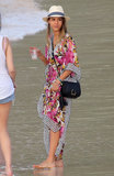 While on vacation in St. Barts, Jessica Alba popped on this Tory Burch caftan maxi dress ($300, originally $375), which is now $75 off. Take it with you on all your fabulous upcoming getaways or work it into your local Summer style.