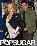 Jennifer Lawrence and Nicholas Hoult left The Little Door restaurant in LA together.
