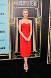 Carey Mulligan walked the red carpet for the Great Gatsby premiere in NYC.