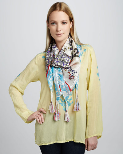 Johnny Was Collection Miliana Embroidered Georgette Blouse, Women's