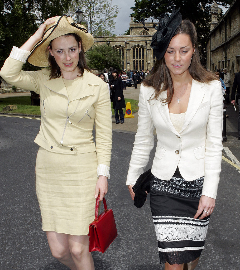 For a wedding in 2005, Kate Middleton went with a smaller, albeit just as dramatic, black hat.