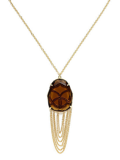 This Kendra Scott Adele Smoky Quartz & Chain Drop Pendant Necklace ($59) is dressy enough to be worn with an LBD but could also easily dress up Mom's t-shirt and denim looks.