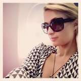 Paris Hilton snapped a selfie before jetting off to NYC. Source: Instagram user parishilton