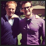 "Jesse Tyler Ferguson teased ""a fun little project"" with his friend Brad Goreski. Source: Instagram user jessetyler"