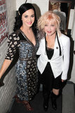 Katy Perry posed with Kinky Boots creator Cyndi Lauper.
