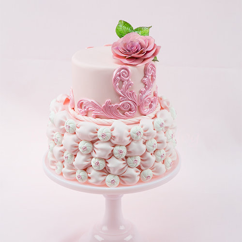 Fabric wedding Cake