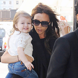 Victoria Beckham and Harper on David Beckham's Birthday