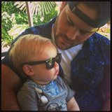 Hilary Duff's boys —Luca and Mike — bonded at the San Diego Zoo. Source: Twitter user HilaryDuff