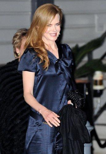 Nicole Kidman left her sister Antonia Kidman's wedding party in Sydney in June 2010.