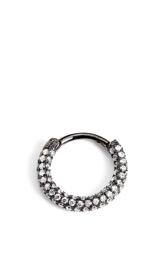 Maria Tash Black Rhodium Diamond Clicker ($1,200)