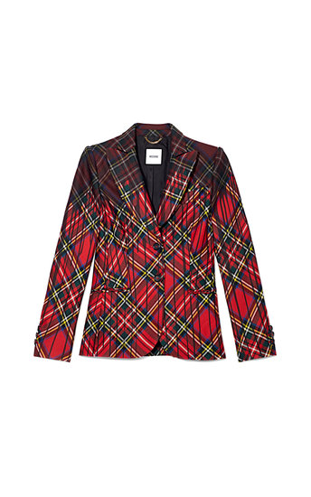 Moschino Tartan Plaid Jacket With Paint Drip Effect ($2,395)
