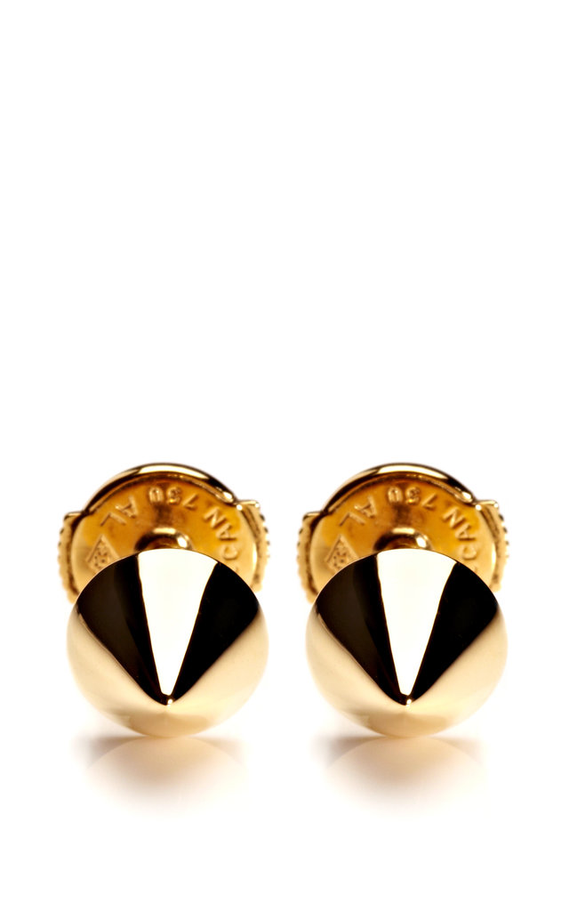 Elise Dray Yellow Gold Muse Studs ($1,315)