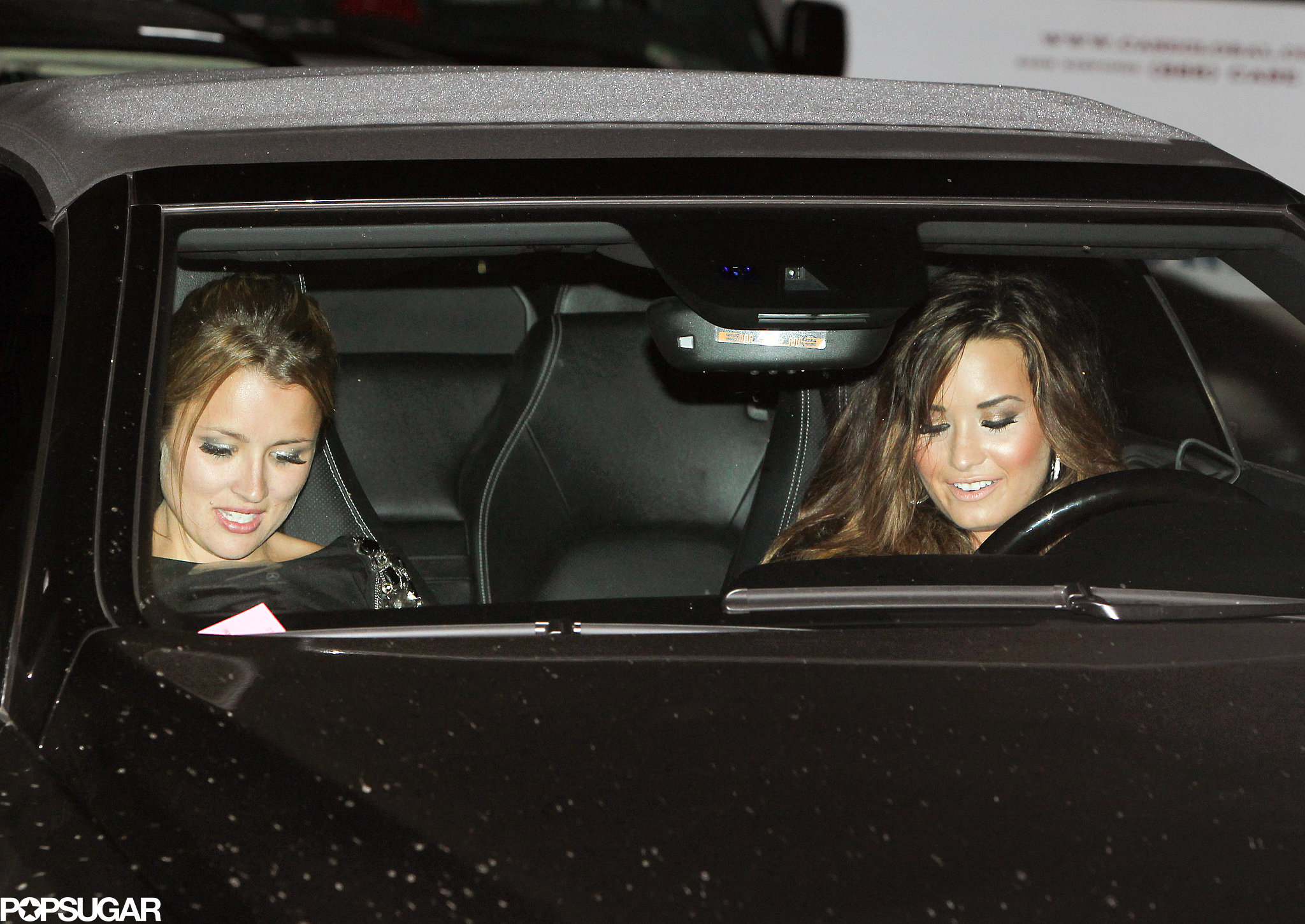 Demi Lovato left Kim Kardashian and Kris Humphries's August 2011 wedding ceremony in Montecito, CA.