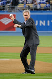 Harrison Ford took the field in LA to throw out the first pitch for the Dodgers in April 2013.