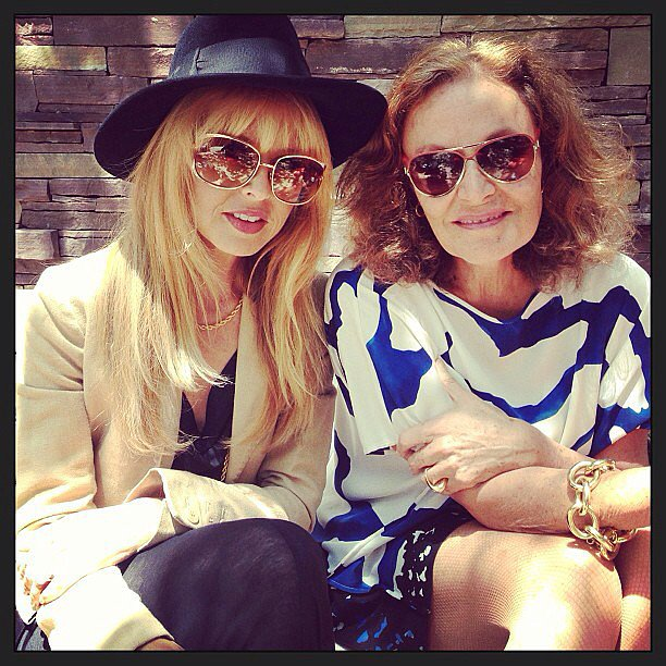 Rachel Zoe lunched in the sun with Diane von Furstenberg. Source: Instagram user rachelzoe