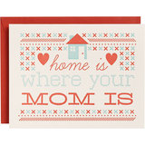 So true! We love the homespun vibe of Paper Source's Home Is Where Your Mom Is ($5) greeting.