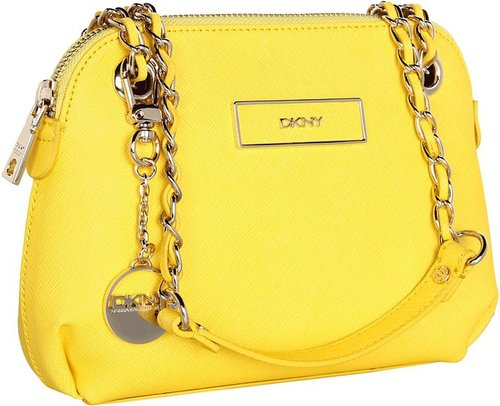DKNY - Items - Saffiano Leather Small Round Crossbody (Green) - Bags and Luggage