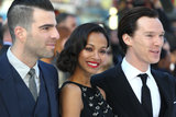 Zoe Saldana Trips Up and Gets Help From Her Trekkies