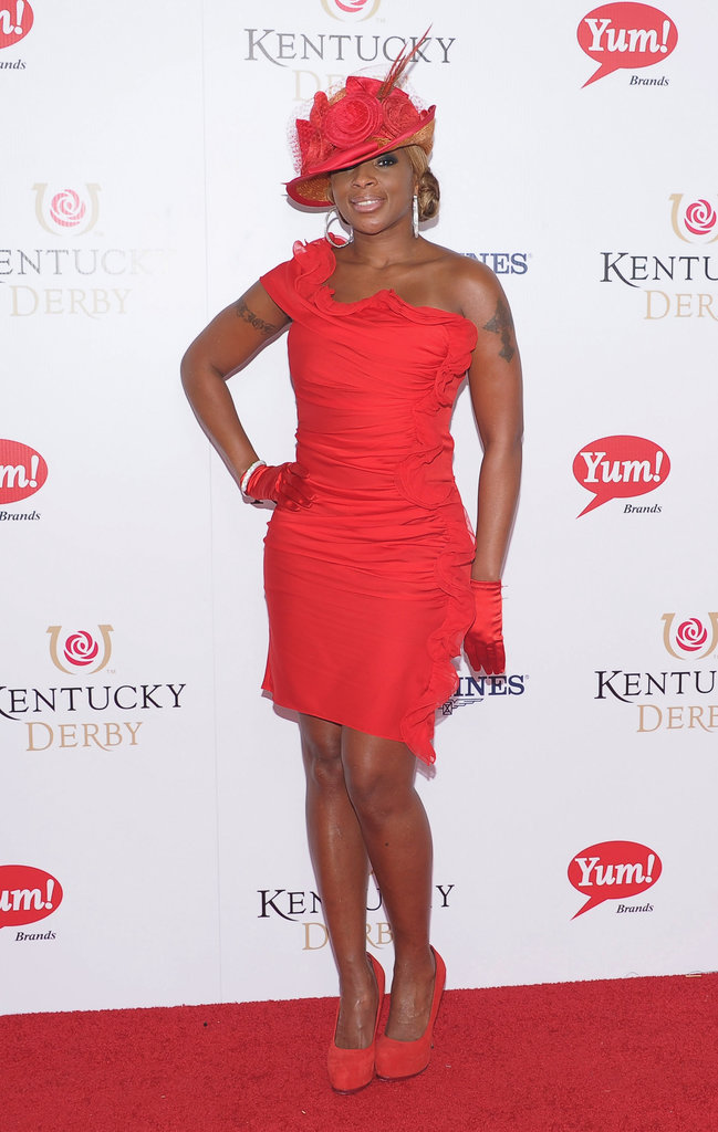 Mary J. Blige wore head-to-toe red for a party during the 2012 event.