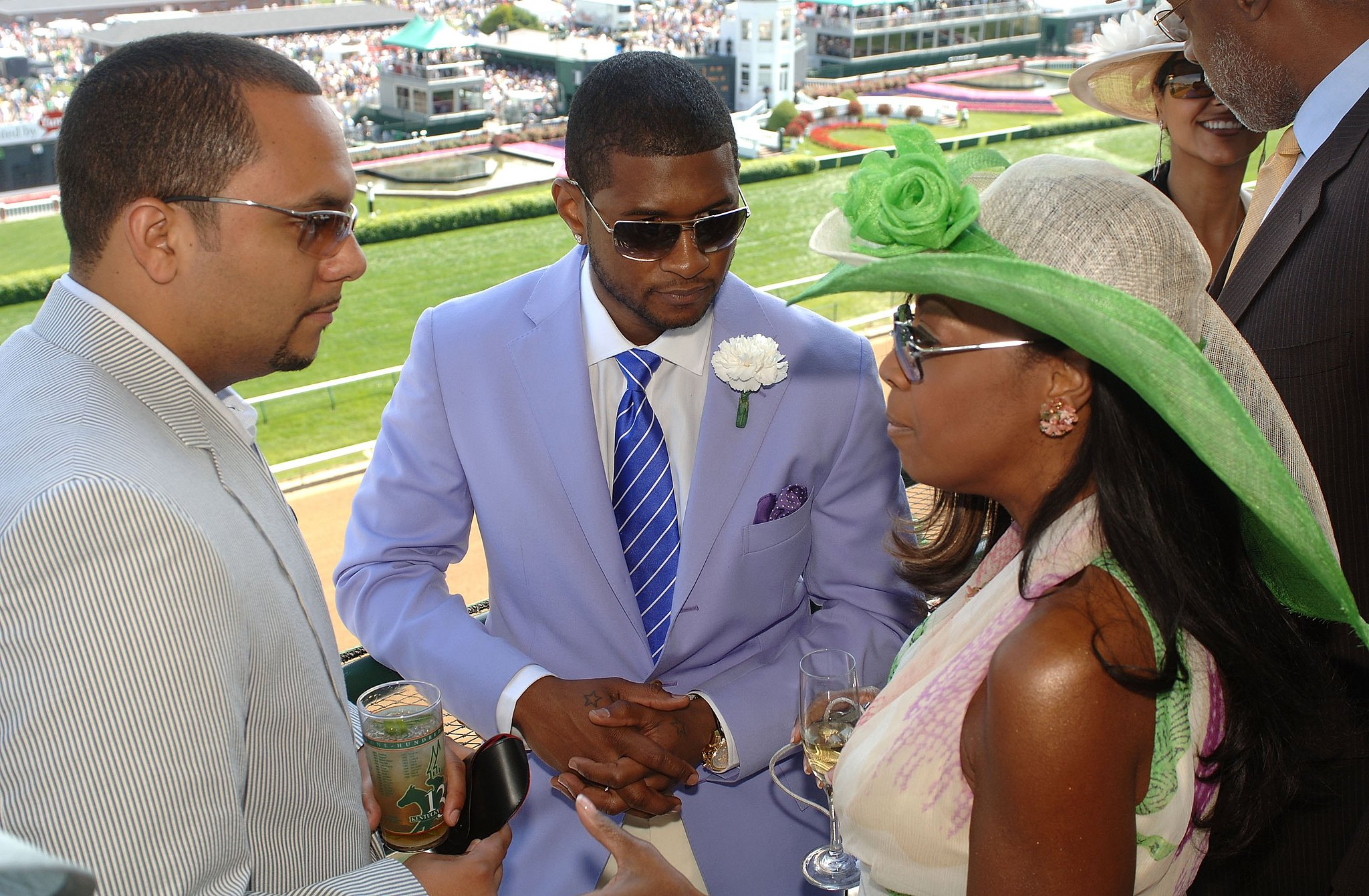 Usher and Star Jones watched the event from a balcony in 2006.