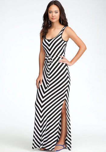 Stripe Maxi Dress - PETITES