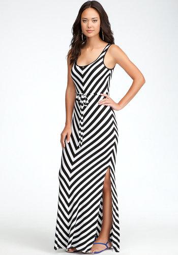 Stripe Maxi Dress - PETITES