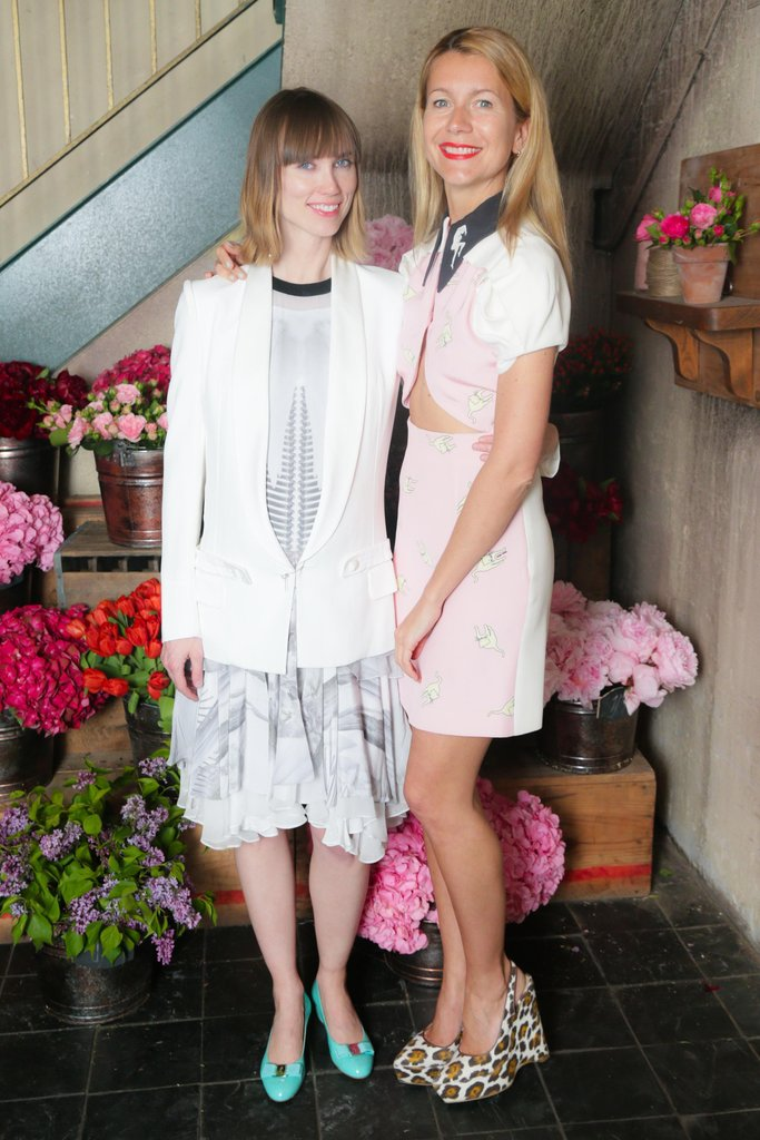 Anya Ziourova and Natalie Joos at Ferragamo's launch of L'Icona in New York. Source: David X Prutting/BFAnyc.com